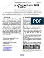 Classification of Fingerprint Using KMCG Algorithm