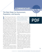 The Next Steps for Environment, Population, and Security