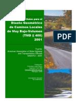 Gu%80%A0%A6%EDas Para El DG de Caminos Locales AASHTO2001%2E