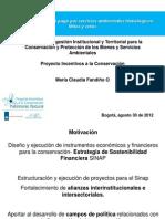 Estrategia de gestión institucional y territorial para la conservación