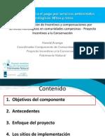 Implementación de Incentivos y compensaciones por servicios hidrológicos en comunidades campesinas