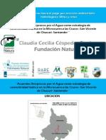 Acuerdos Recíprocos por el Agua como estrategia de conectividad hídrica en San Vicentede Chucurí