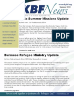 Summer 2012 KBF Newsletter
