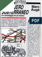 El viajero subterráneo_Marc Augé