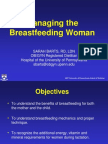 managing the breast feeding woman