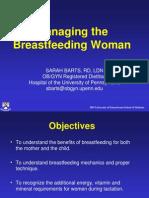 managing the breast feeding woman