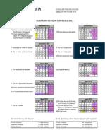 Calendaio escolar 2012-2013