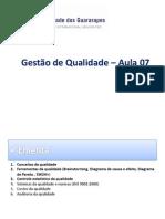 Gestão da Qualidade_Aula 07_ 11052012_II UNIDADE
