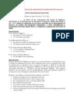 Comité de Vigilancia del Presupuesto Participativo 2011-2012