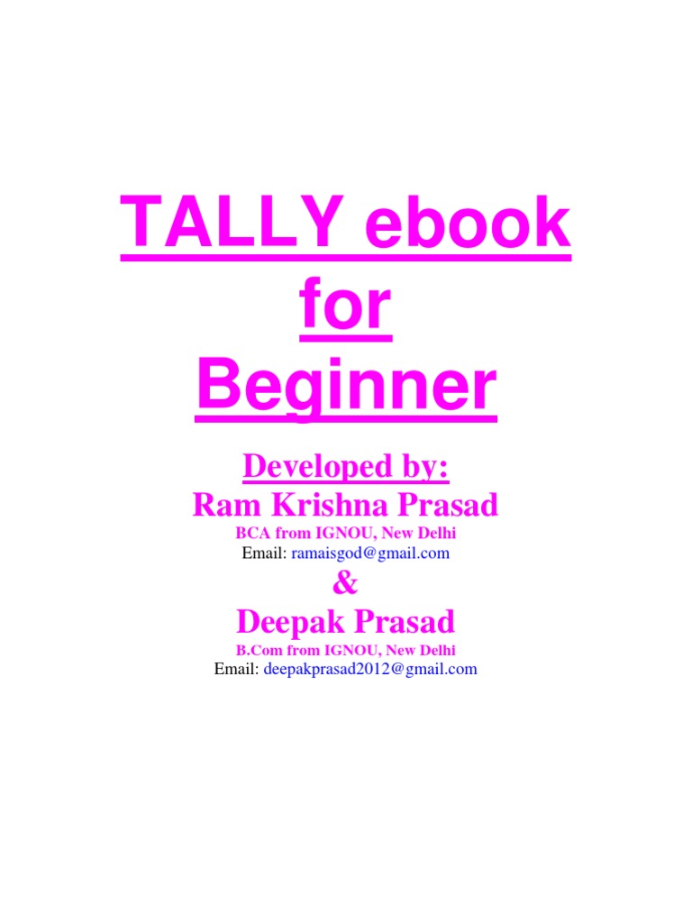 Tally ebook for beginner balance sheet income statement fandeluxe Image collections