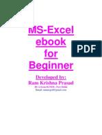 MS Excel eBook for Beginner