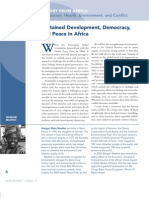 Sustained Development, Democracy, and Peace in Africa