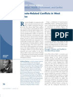 Climate-Related Conflicts in West Africa