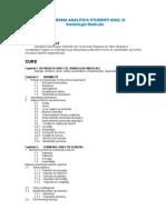 Programa Analitica Semiologie