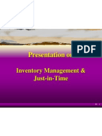Inventory Management &Just-in-Time