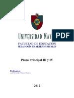 Instrumento Principal III y IV - Luis Velasco