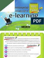 Brochure Presentación Seminario teórico práctico de Introducción al e-Learning