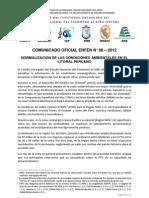Comunicado Oficial ENFEN N°08-2012 (04.09.2012)