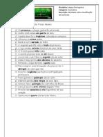 Numerais - atividade de classificação