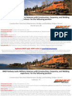 BNSF Railway Construction, Carpentry, And Welding