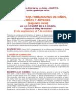 TALLERES PARA FORMADORES DE NIÑOS Y JÓVENES (segundo ciclo)