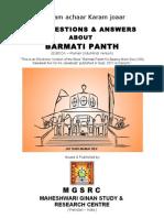 100 Q & A - About Barmati Panth by MGSRC