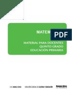 Material para el docente. Matematica. Quinto grado