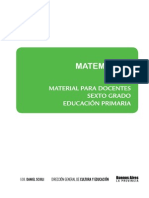 Material para el docente. Matematica. Sexto grado