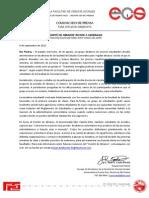 "Comunicado de Prensa - ""Comité de Abrazos"" invade a Generales - CP"
