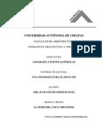 Control de Lectura Una Geografia Para El Siglo XXI Arq. Julio CGR
