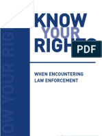 Know Your Rights When Encountering Law Enforcement [English] - ACLU