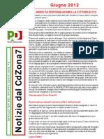 Newsletter di GIUGNO 2012 del Gruppo Consiliare PD di Zona 7-Milano