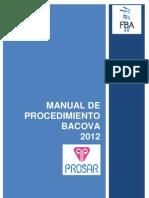 2012 Manual Procedimiento BACOVA