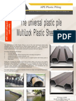 VSP - Multilock Plastic Sheet Piling (Miniape, July 2009)