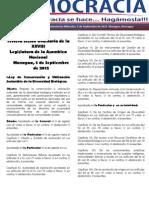 Barómetro Legislativo diario del miércoles, 5 de septiembre de 2012