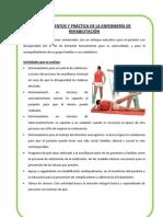 FUNDAMENTOS Y PRÁCTICA DE LA ENFERMERÍA DE REHABILITACIÓN