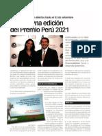 Lanzan 9na edición del premio Perú 2021