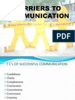 Barriers to Communication and Principles for Effective Communication