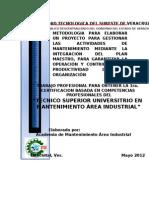 9 Metodología de la integradora I TSU