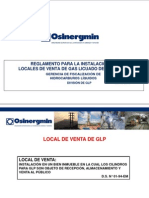 Presentacion de Local de Venta de Glp e Osinerming