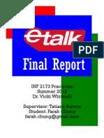 Practicum - Final Report