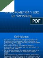 Antropometría y uso de variables antropométricas