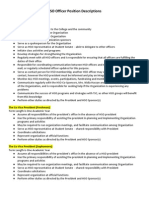 HSO Officer Position Descriptions