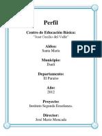 Perfil Santa Maria, El Paraiso ,Honduras(Solicitud de Carreras en El Centro Educativo)