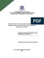 Análisis comparativo de soluciones constructivas que permiten cumplir las exigencias de la nueva normativa térmica en la IX región.
