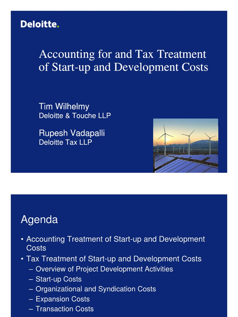 Start-Up Costs_Accounting for and Tax Treatment_100610