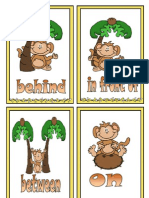 Prepositions of Place Flashcards Monkey