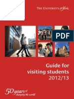 Guide for Visiting Students 2012-13