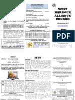 Church Newsletter - 09 September 2012