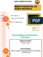 Tribunal Registral Segunda Instancia